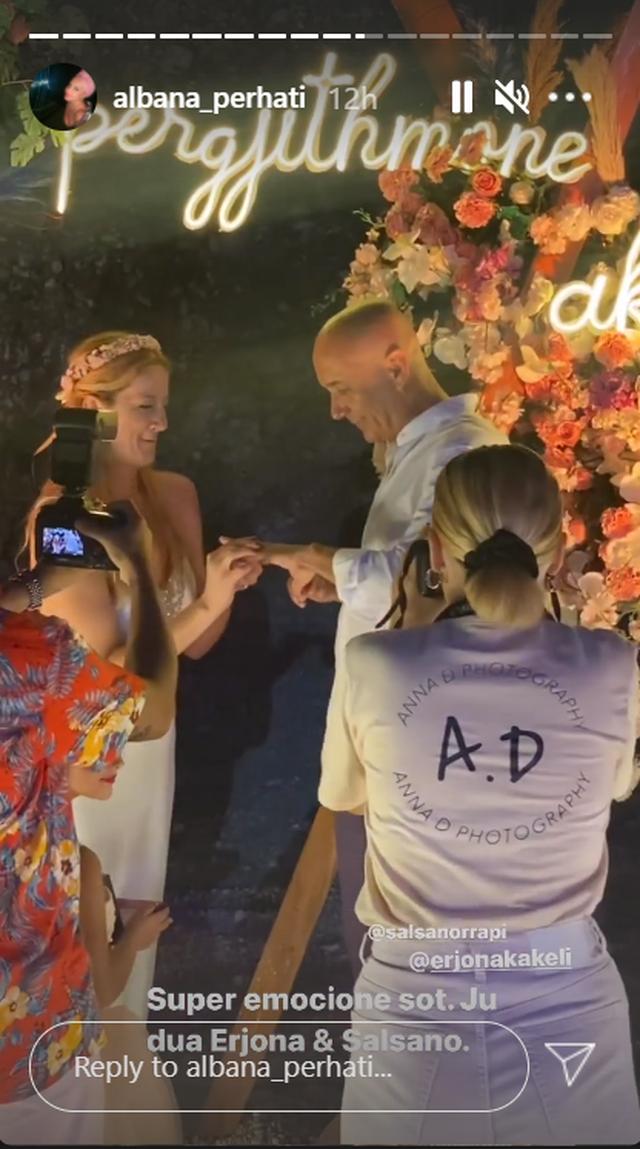 Salsano Rrapi and Erjona Kakeli get married, but who are the bridesmaids