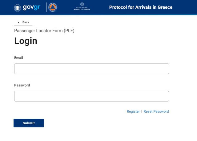 You can not travel from Albania to Athens and Crete without filling out this