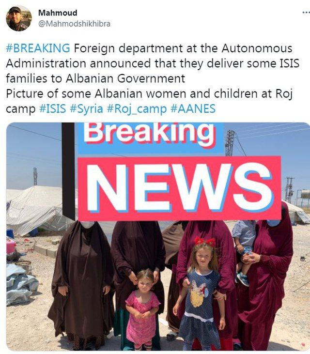 5 gra dhe 3 fëmijë nga kampi i ISIS do iu dorëzohen autoriteteve