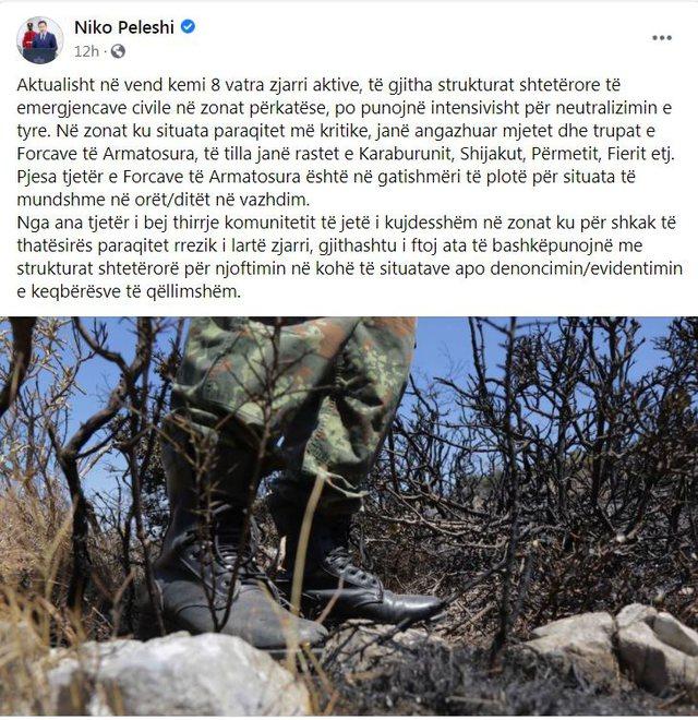 Video/ Pamje nga zjarri në Parkun e Karaburunit, situata me rrezik edhe