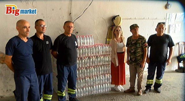 Edhe rrjeti Big Market solidarizohet për zjarret: Dhuron ujë të