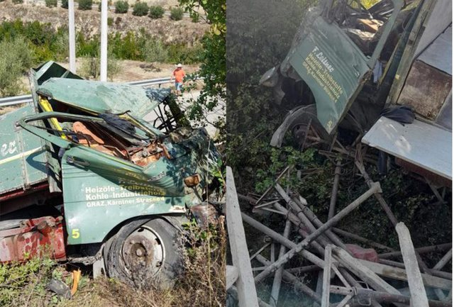 Fata accident in Berat / Kamionçina goes off the road and kills one