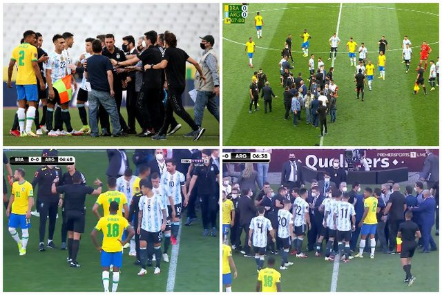 Qatar 2022 / Chaos on the field, the Brazil-Argentina match is interrupted in