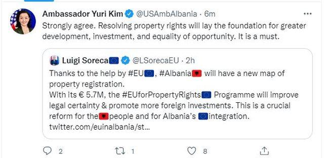 Shqipëria me hartë të re të regjistrimit të