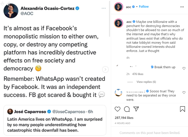 What is the biggest problem according to Ocasio-Cortez, that people were left