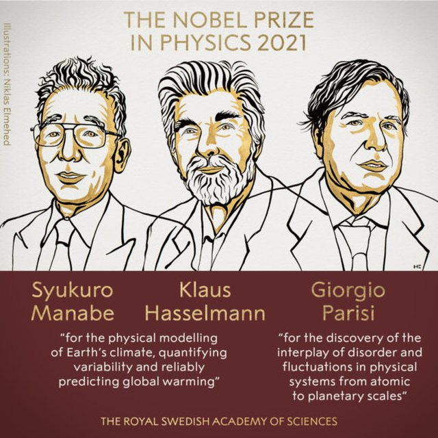 Nobel Prize in Physics goes to Earth Climate, three scientists who will share
