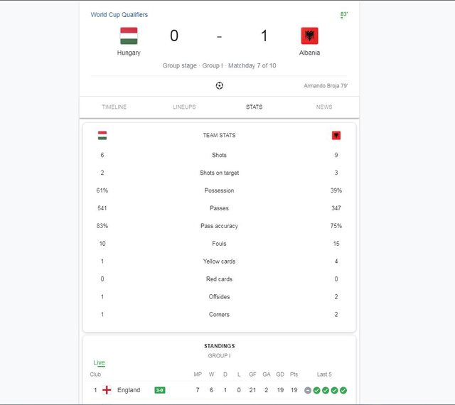 World Cup 2022 / The national team scores a goal against Hungary