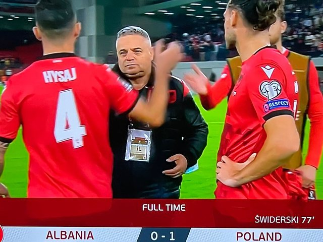 The match ends with the victory of Poland and the embarrassment of Albania after