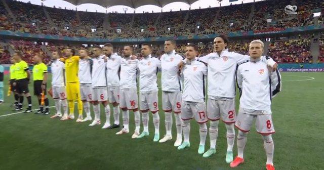 Katër lojtarët shqiptarë nuk këndojnë himnin maqedonas