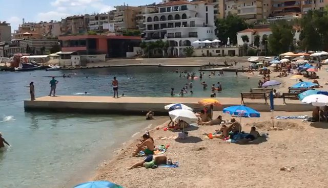 An Incident Hened Today At The Beach In City Of Saranda A Polish Tourist Named After Kamil Thiotheli Was Thrown Headlong From Trampoline